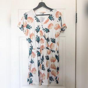Pineapple Shorts Romper